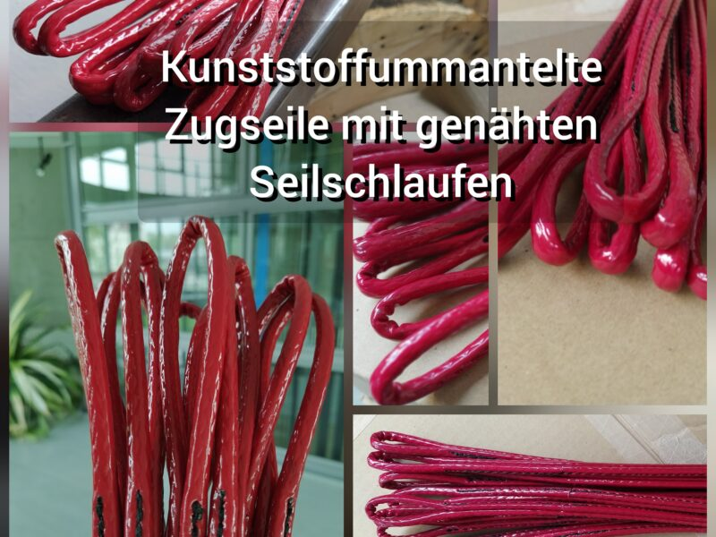 Plastic sheathed traction ropes